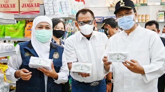 Jelang Lebaran 2021, Khofifah - Gus Ipul Kompak Pastikan Stok Sembako Aman diKota Pasuruan