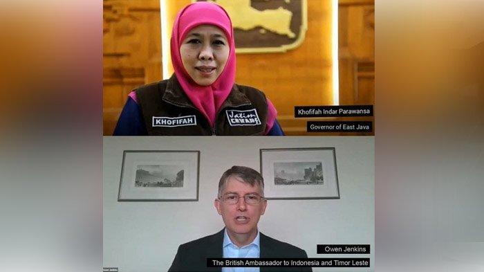 Perluas Akses Data Real Time Covid-19, Pemprov Jatim Kolaborasi dengan Kedutaan Inggris