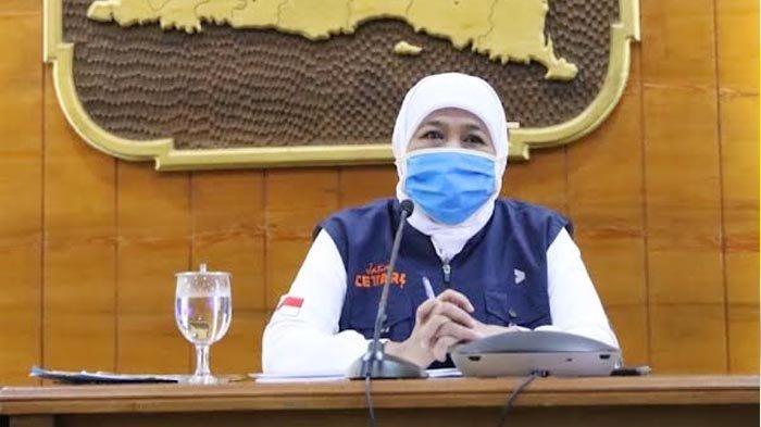 Jatim Bebas Zona Merah Covid-19, Gubernur Khofifah Ajak Masyarakat Tidak Lengah Tetap Patuhi Prokes