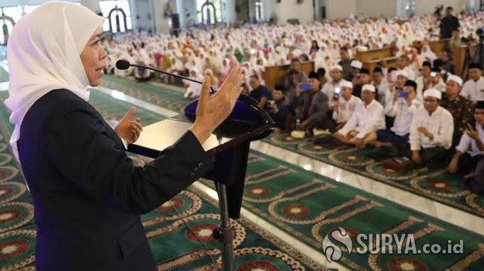 Gubernur Khofifah Imbau Warga Jatim Tak Rayakan Tahun Baru Berlebihan dan Ajak Berdoa Bersama