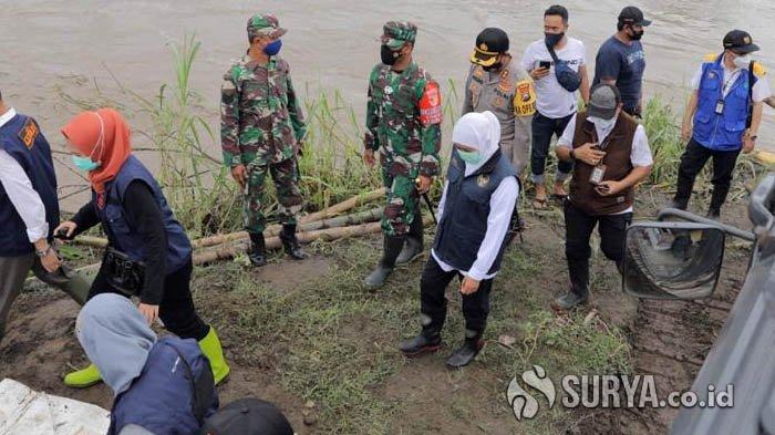 Gubernur Khofifah: Perbaikan Tanggul Kali Konto Jombang Ditarget Selesai 3 Hari