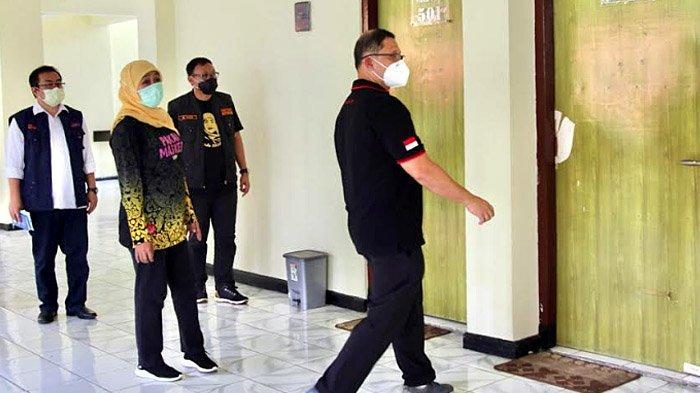 Gubernur Khofifah Pastikan Kesiapan BPSDM Jatim Jadi Tempat Isolasi Pasien Covid-19 Pasca Rawat