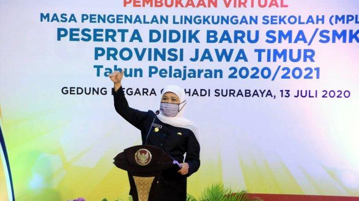 Tahun Ajaran Baru Dimulai Hari Ini, 400 Ribu Siswa SMA/SMK di Jawa Timur Ikuti MPLS Daring