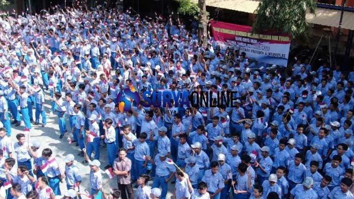 Kirab Parade Merah Putih 2019, Kapolres Tuban Ajak Generasi Milenial Jaga NKRI