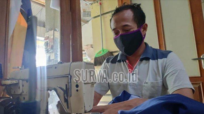 Kisah Kirno Penjahit Difabel Asal Kabupaten Tuban, Tak Minder Meski Punya Keterbatasan Fisik
