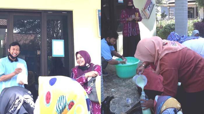 Pembuatan Sabun Cuci Tangan di Desa Kasri, Program KKN Mahasiswa UM Penyebaran Informasi Covid-19