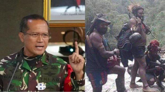Mantan Danjen Kopassus Mayjen TNI I Nyoman Cantiasa (kiri) memberikan sikap mengejutkan setelah KKB Papua dicap sebagai teroris