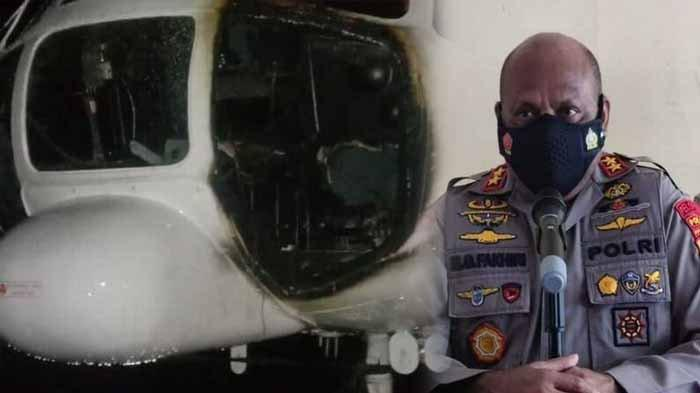 KKB Papua Kecele, Helikopter yang Dibakar Sudah Rusak, Ini Daftar Kebiadaban Sabinus Waker Cs