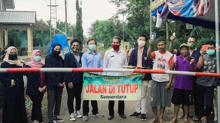 1.000 Masker untuk Desa Peniwen, Kromengan, Malang, Cegah Covid Mahasiswa Dilarang Tinggal di Desa