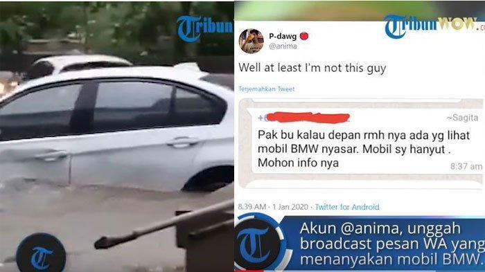 KLARIFIKASI Pengunggah Info Mobil Hilang Terseret Banjir & Ditemukan Nyakut di Pohon, Viral Twitter