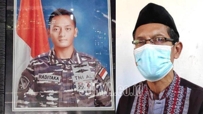 Kls Isy Raditaka Mardyansah (26) asal Desa Kesamben, Kecamatan Plumpang, Tuban (kiri) dan ayahnya Margiyono (56) saat ditemui di rumahnya.