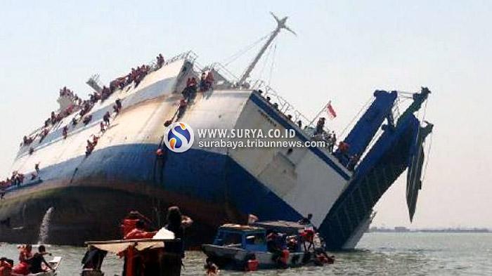 Diduga Muatan Kapal Tak Imbang antara Bagian Kiri dan Kanan Kapal