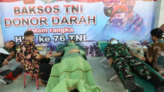 Rangkaian Peringatan HUT TNI ke 76, Kodim 0812 Lamongan Gelar Kegiatan Donor Darah