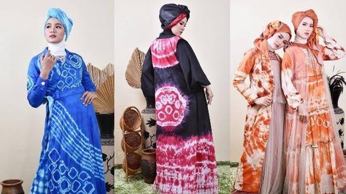 Terinspirasi dari Ombak di Lautan, Desainer Ulfa Mumtaza Rancang Busana Ringan Usung Motif Shibori