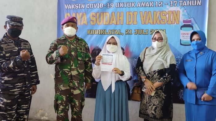 Dankodiklatal Beri Dukungan Langsung Vaksinasi Pelajar di AAL Bumimoro Surabaya