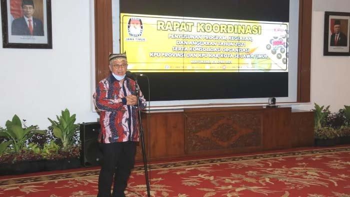 Pesan Komisioner KPU RI Arief Budiman kepada KPU se-Jatim dalam Rakor di Banyuwangi