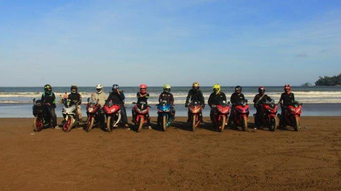 Touring Perdana All Variant Ninja Community Surabaya ke Bendungan Wonorejo Tulungagung
