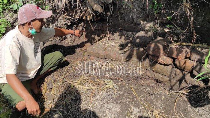 Temuan Struktur Bata di Areal Persawahan Kota Blitar, Disparbud Minta BPCB Jatim Observasi