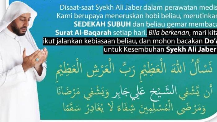 Ajakan doa untuk Syekh Ali Jaber