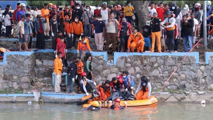 Pria Tanpa Identias Tenggelam di Sungai Porong Ditemukan Tewas, Ciri-ciri Korban Polisi Tunggu Visum
