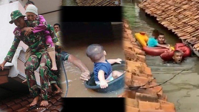 Korps Marinir Cerita Evakuasi Korban Banjir di Gang Sempit Jakarta, Tinggi Sampai 3 Meter