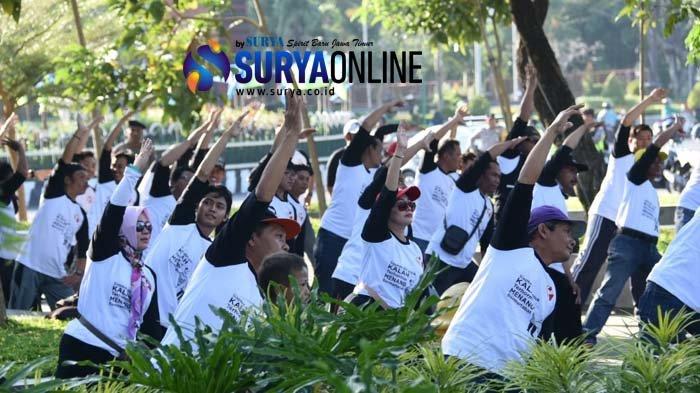 Senam Awas Awali Deklarasi Kalah Terhormat Menang Bermartabat Kota Kediri