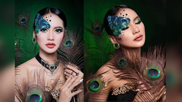 Kecantikan Burung Merak dalam Makeup Kreasi ala MUA Fanny Gian
