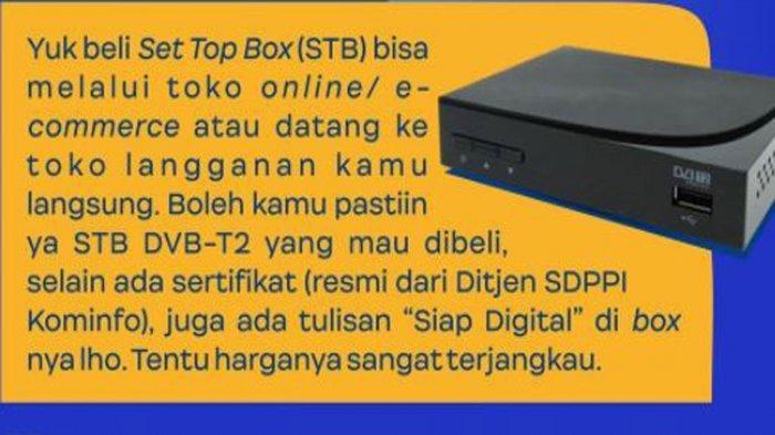 Kriteria Set Top Box (STB) untuk Nikmati Siaran Digital dan Tanggal TV Analog Dimatikan di Surabaya