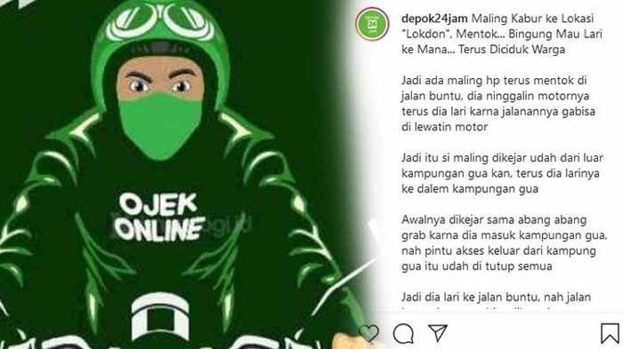 KRONOLOGI Maling Motor Dikejar Ojol Terjebak di Gang Buntu, Saat Ditangkap Tangan Maling Dicuci Dulu