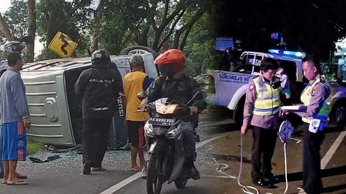 KRONOLOGI Toyota Innova Tabrak Pendemo di Pasuruan & 4 Orang Tewas, di Tulungagung Elf Terguling