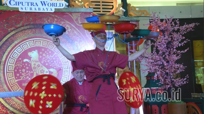 Oriental Arts Troupe Sambut Imlek di Ciwo Mall,Shelly Chow dan Steve Chow Pamer Kelenturan