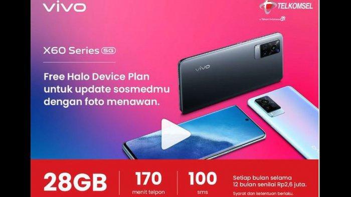 Kuota Internet Gratis Telkomsel hingga 28GB Bulan Ramadan 2021, Promo Bundling Pembelian Hp Vivo X60
