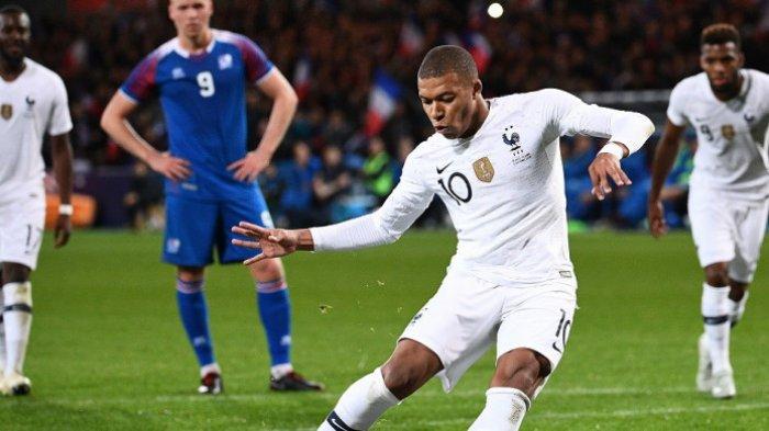 Prancis vs Islandia - Kylian Mbappe Selamatkan Prancis dari Kekelahan