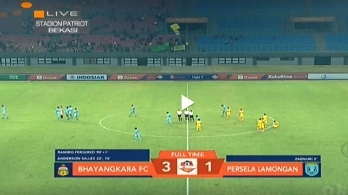 Skor Akhir Bhayangkara FC vs Persela Lamongan 3-1: Menit 90+1 Ramiro Lengkapi Kemenangan Tuan Rumah