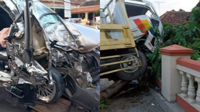 Tragedi Tewasnya Pemandu Lagu Setelah Adu moncong Sedan vs Truk
