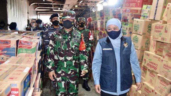 Jatim Kirim 45 Truk Bantuan untuk Warga NTT, Dilepas Gubernur Khofifah dan Pangkoarmada II