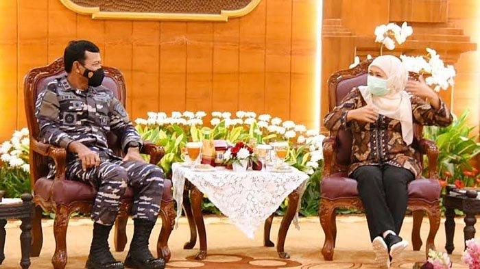 Gubernur Khofifah Minta Pangkoarmada II Bantu Vaksinasi Warga Pesisir Pantura dan Tapal Kuda
