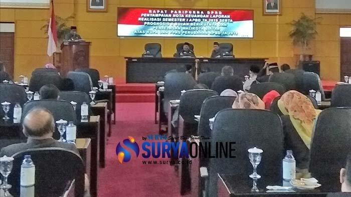 DPRD Kota Blitar Gelar Rapat Paripurna Laporan Realisasi Semester I APBD 2019