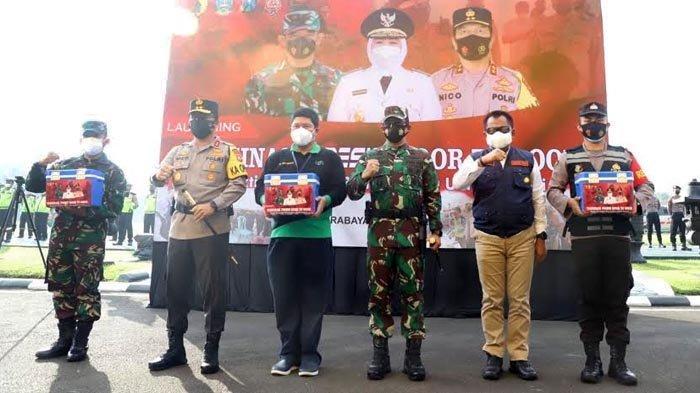 Plh Sekdaprov Jatim, Kapolda Jatim dan Pangdam V Brawijaya Launching Vaksinasi Presisi Door to Door