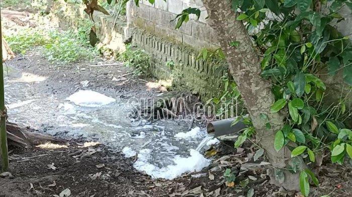 Warga Desa Semen Kabupaten Kediri Protes Bau Menyengat Pembuangan Limbah Tahu