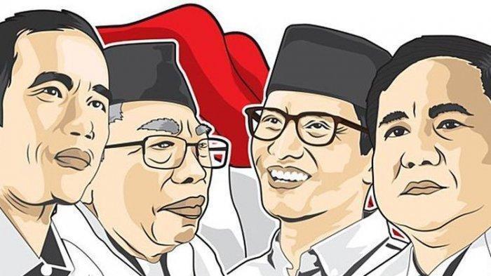 Survei Elektabilitas Capres Terbaru - Jokowi-Maruf Turun Prabowo-Sandi Naik, Selisih 11,8 Persen