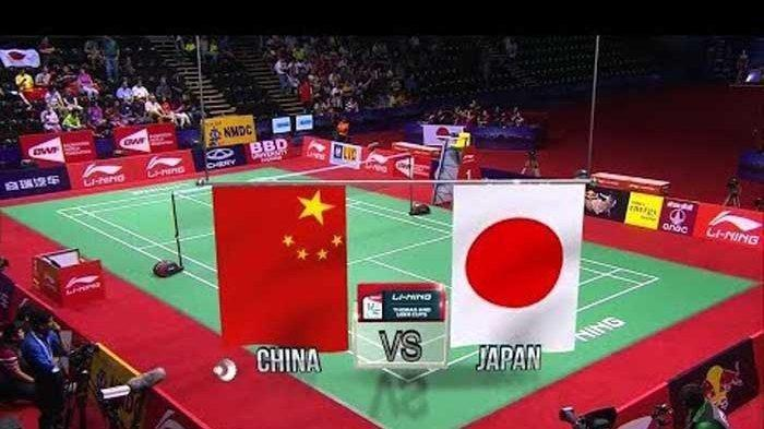 Link Live Streaming China vs Jepang di TVRI Final Sudirman Cup 2019 Minggu 26 Mei Jam 12.00 WIB