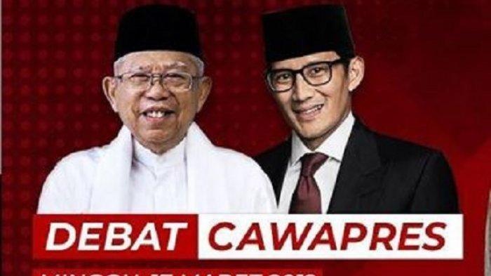 Live Streaming Debat Cawapres 2019 Malam ini Jam 20.00 WIB Tayang di Trans7, TransTV, CNN Indonesia