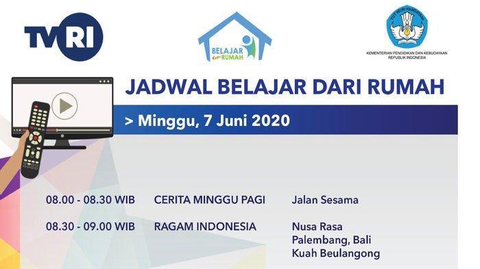 LIVE STREAMING TVRI dan Jadwal Belajar dari Rumah 7 Juni 2020, Materi SD Kelas 1-3 Ragam Indonesia