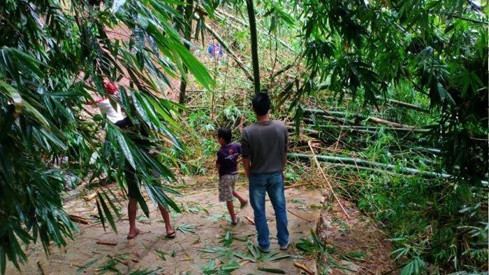 Bencana Longsor Lanjutan Memutus Jalan Desa Sendang - Nyawangan Tulungagung