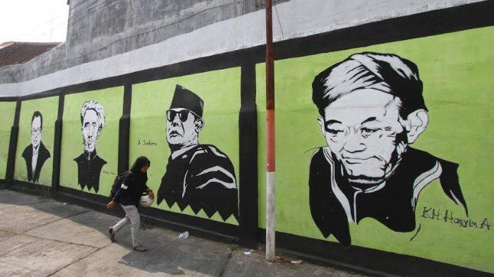 Hari Pahlawan, Warga Ubah Mural Superhero Jadi Mural Pahlawan Nasional