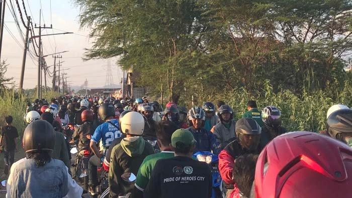 Persebaya Vs Persib Bandung: Macet Parah di Sekitar Stadion Gelora Bung Tomo Surabaya