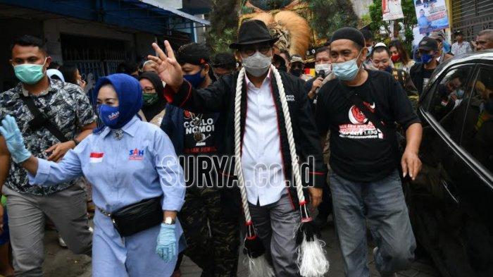 Pilwali Surabaya 2020, Machfud Arifin Nyoblos di TPS 25 Bareng Keluarga, akan Berangkat Jalan Kaki