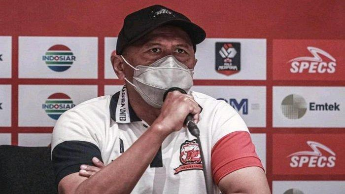 Soal Liga 1 Tanpa Degradasi, Pelatih Madura United Menunggu Bentuk dan Lokasi Pertandingan