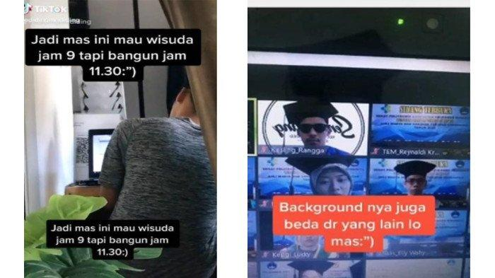 VIDEO Mahasiswa Surabaya Wisuda Online Tanpa Mandi dan Lupa Pakai Celana, Terkejut saat Viral